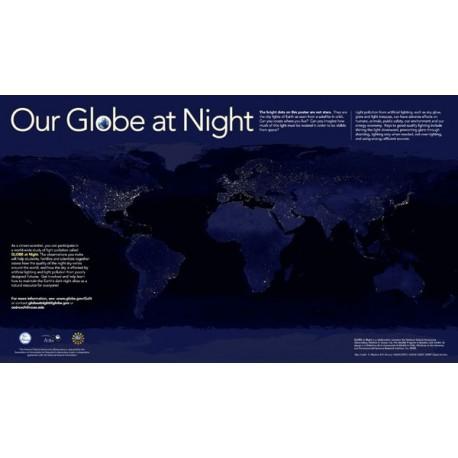 پوستر زمین در شب ( Our Glube at Night )