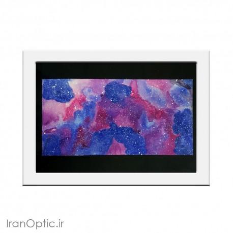 تابلو نقاشی سحابی رنگارنگ