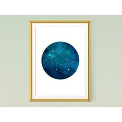 تابلو صورت فلکی دوپیکر - Constellation art Pisces KH103