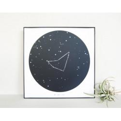 تابلو صورت فلکی جدی - Constellation art Capricornus KH104
