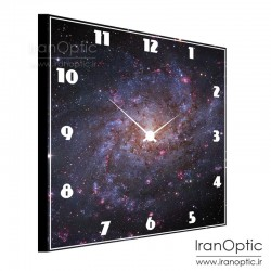 ساعت دیواری مربع طرح کهکشان M33
