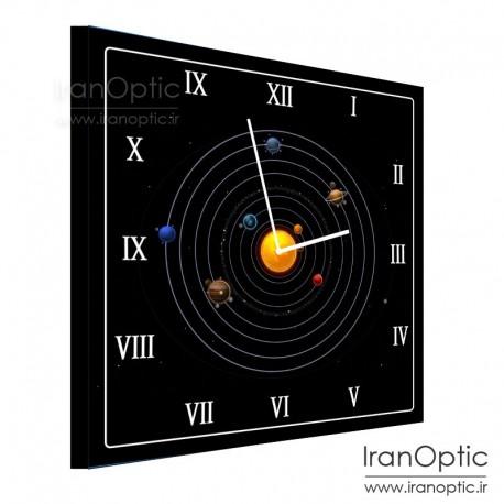 ساعت دیواری مربع طرح منظومه شمسی 1