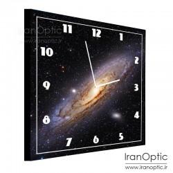 ساعت دیواری مربع طرح کهکشان آندرومدا - M31 Clock