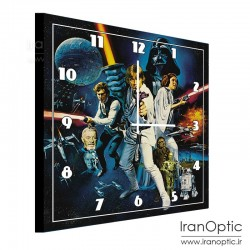 ساعت دیواری مربع طرح جنگ ستارگان - Clock Wall Star Wars