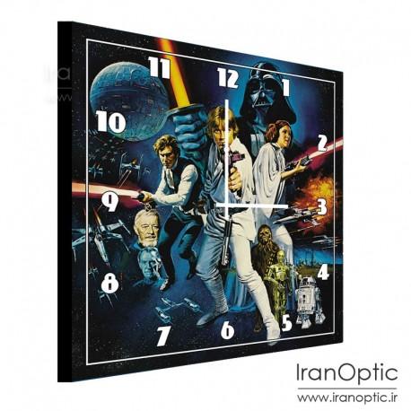 ساعت دیواری مربع طرح جنگ ستارگان ( لگو ) - Clock Wall Star Wars Lego
